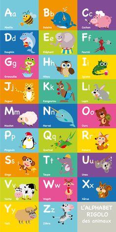 Kakémono ALPHABET RIGOLO, #Alphabet #Kakémono #RIGOLO
