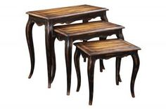 Ultimate Accents Nesting Tables by Ultimate Accents. $538.20. The Oversized Nesting Tables give a truly unique look to your living room. Sitting high, these classic antiqued black and brown wood tones top makes these much more than nesting tables - they are true conversation pieces.