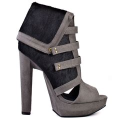 Medina - Grey Leather by Michael Antonio Studio Ankle Booties, Bootie Boots, Shoe Boots, Killer Heels, Designer Boots, Grey Leather, Shoe Brands, Swagg, Black Heels