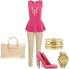 pink & nude business casual
