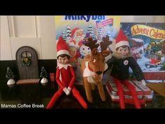 24 Days of Elves on the shelf The Elf, Elf On The Shelf, Shelf Ideas, Coffee Break, Ronald Mcdonald, Shelves, Day, Christmas, Kids