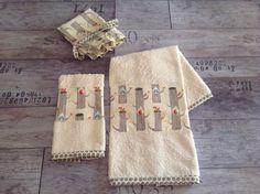 Set asciugamani completo di dust bag. 100% organic cotton