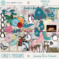 January Freeze Elements by Carla's Treasures Designs.