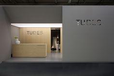 Tubes @ Cersaie 2012 Exhibition Stall, Exhibition Booth Design, Exhibition Display, Exhibit Design, Shop Signage, Store Interiors, Environmental Design, Facade Design, Retail Space
