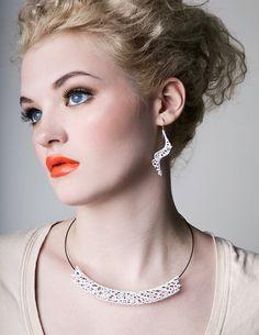 Hyphae Spiral Earrings - black or white from nervoussystem