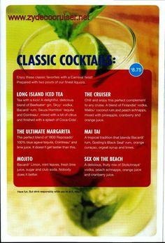 Carnival drinks