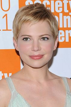 THE 10 MOST INSPIRING SHORT HAIRCUTS: Michelle William's Definitive Pixie - Why we love it: What's not to love? Williams paved the way for the modern pixie when she lobbed off her hair. The texture is what keeps it from looking vintage. Ask your stylist to cut hair shorter around the face and longer toward the nape.