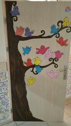 Yaptım School Board Decoration, School Door Decorations, Class Decoration, Fruit Crafts, Bird Crafts, Tree Crafts, Classroom Art Projects, Classroom Decor, Independence Day Activities