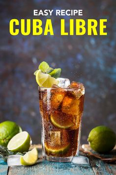 The Cuba libre cocktail recipe isn't just rum and Coke, it also comes with a fascinating history. You'd be surprised who named it and why. Mexican Cocktails, Easy Cocktails, Cocktail Recipes, Coke Drink, Tequila Drinks, Coke Recipes, Mexican Food Recipes, Drink Recipes, Cuba Libre Cocktail