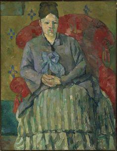 Madame Cezanne in a Red armchair - Cezanne, museum of fine Arts,  Boston