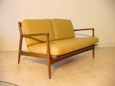 Arm Lounge Settee from Selig (Co) designed by Ib Kofod-Larsen. Sold for $870 plus S