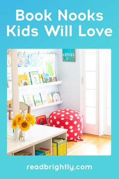 Want your child to become a book lover? Design a cozy book nook to entice your kids to curl up with a good book... or ten. Low Shelves, Display Shelves, Floating Shelves, Cozy Reading Corners, Reading Nook, Bedroom Bookcase, Corner Bookshelves, Cool Tents, Stack Of Books