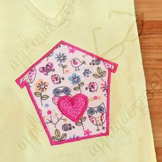 Bird House with Heart Appliqué Embroidery Design DOWNLOAD for DIY projects, from Designed by Geeks. Use any embroidery machine - Brother, Viking, Janome, Bernina, Pfaff, Singer - to stitch this design.  This is an applique design of a birdhouse with an applique of a heart on top of it.