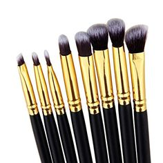 Fheaven 8pcs Pro Eye Brush Set Blending Shadow Eyeliner Smoked Bloom Cosmetic Tools *** Find out more about the great product at the image link. (Note:Amazon affiliate link)