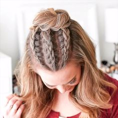 Edgy prom hair - kantiges abschlussballhaar - cheveux de bal edgy - pelo de fiesta nervioso - half up prom hair, prom h Box Braids Hairstyles, Trendy Hairstyles, Dance Hairstyles, Natural Hairstyles, Cute Cheer Hairstyles, Rocker Hairstyles, Haircut Long Hair, Braided Hairstyles For Short Hair, Braided Hairstyles For Long Hair