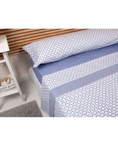 Bonito juego de sábanas con diseño moderno a un precio increíble. Todas las medidas de cama. Compra tus sábanas en Revitex, ¡somos especialistas!