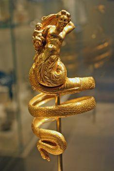 Pair of gold armbands  Period:    Hellenistic Date:    ca. 200 B.C. Culture…