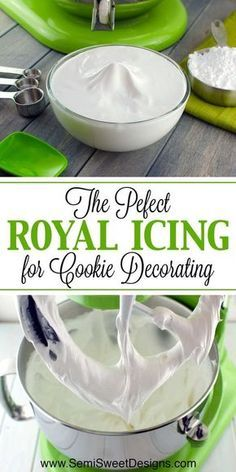 Royal icing The perfect royal icing recipe for cookie deco. - Royal icing The perfect royal icing recipe for cookie decorating Dessert Design, Diy Dessert, Cookies Cupcake, Royal Icing For Cookies, Royal Frosting, Frosting For Cookies, Royal Icing Recipes, Cookie Frosting Recipe, Royal Icing Recipe Corn Syrup