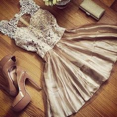Champagne short prom dress,party dress,summer dresses