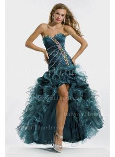 Party Time Gown 6150 Prom Dress - 2013 Bling Bling Iridescent Crystals Beads Sequins Corset Prom Gowns 2014 Cheap Ruffle Peacock Organza Hi Lo Pageant Evening Formal Dresses Dresses 2013, Prom Dress 2013, Cheap Prom Dresses, Pageant Dresses, Homecoming Dresses, Girls Dresses, Prom Gowns, Ruffled Dresses, Dresses Online