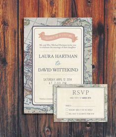 Travel Theme Wedding Invitation by ConteurCo on Etsy, $50.00