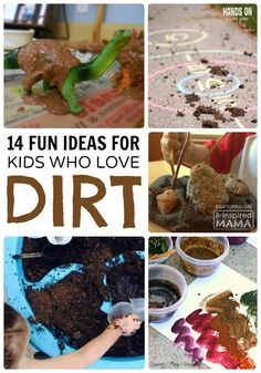 14 Fun Activities for Kids Who Love Dirt + New fun kids music that encourages outdoor play and a love of nature - from Bobs & LoLo's new DirtyFeet Album - at B-Inspired Mama - AD fun for boys 14 Fun Activities for Dirt-Loving Boys - and Girls! Outside Activities, Outdoor Activities For Kids, Nature Activities, Outdoor Learning, Summer Activities, Toddler Activities, Kids Learning, Outdoor Play, Sensory Activities