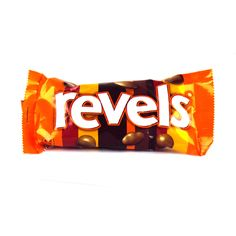 British Sweeties-Revels: a cinema confection, these come in bags for sharing. A 'traditional'' range of flavours, rather than sophisticated. Orange cream, milky coffee, granite-hard toffee, raisin, a flat disk of chocolate (denuded Minstrel?) This was high-rolling in the Seventies. Perhaps the ambient cinema lighting contributed, but orange creams (insert your least favourite), like buses, often came in threes, right at the end of the bag.