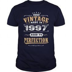 1997 Vintage Aged to Perfection #1997 #tshirts #birthday #gift #ideas #Popular #Everything #Videos #Shop #Animals #pets #Architecture #Art #Cars #motorcycles #Celebrities #DIY #crafts #Design #Education #Entertainment #Food #drink #Gardening #Geek #Hair #beauty #Health #fitness #History #Holidays #events #Home decor #Humor #Illustrations #posters #Kids #parenting #Men #Outdoors #Photography #Products #Quotes #Science #nature #Sports #Tattoos #Technology #Travel #Weddings #Women