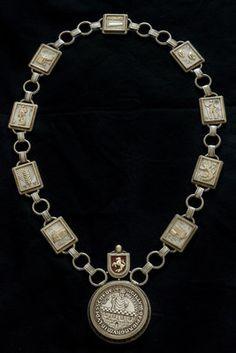 Prunkvolle Amtskette Larp, Bracelets, Silver, Jewelry, Accessories, Necklaces, Bags, Jewlery, Jewerly