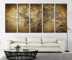 Oversized Canvas Art Prints Vintage World Map Canvas Print X - Oversized map prints