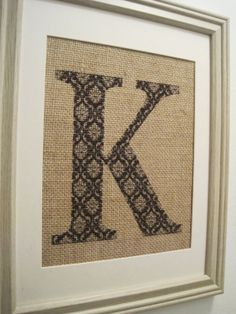 Burlap Print Burlap Monogram Burlap Wedding Art by SunBeamSigns, $21.00
