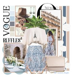 """Meet me in Paris..."" by marleen1978 on Polyvore featuring Givenchy, Maje, Spell & the Gypsy Collective, Bling Jewelry, Olivia Collings Antique Jewelry, Tano, Blue, Flowers, vogue and ruffles"