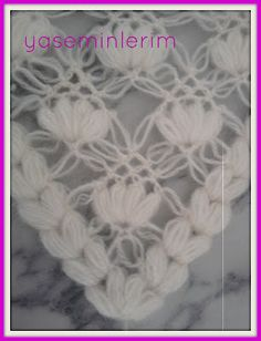 Cok Şık Bir Şal Modeli,ye hayirli aksamlar diliyorum herkese cok begenecegini… You are in the right place about Crochet hairstyles Here we offer you the. Crochet Stitches Patterns, Baby Knitting Patterns, Loom Knitting, Knitting Stitches, Stitch Patterns, Love Crochet, Crochet Motif, Crochet Shawl, Knit Crochet
