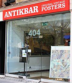 Visit us at AntikBar - original vintage posters - 404 King's Road, London SW10 0LJ. We're open Monday to Saturday (closed Sundays and Bank AntikBar.co.uk