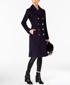 Guess Knee-Length Double-Breasted Peacoat - Blue S Sperrys Women, Pea Coats Women, Mens Winter Coat, Winter Coats, Timberland Style, Timberland Fashion, Black Riding Boots, Square Toe Boots, Double Breasted Coat