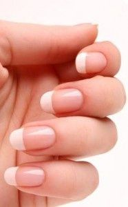 acrylic nail french tip designs