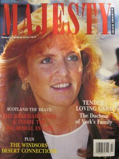 Majesty Royalty Magazine from October 1990 - The Duchess of York