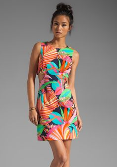 TRINA TURK: loving this tropical pattern in both a maxi and tank! Come and see it in stores NOW!
