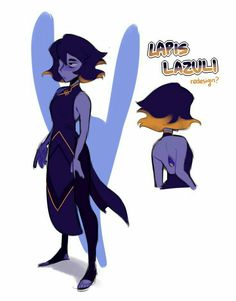 i saw ppl doing gem redesigns and it looked like fun, so I scribbled a quick lil thing lapis lazuli Steven Universe Oc, Diamante Rosa Steven Universe, Steven Universe Characters, Steven Universe Drawing, Universe Art, Steven Universe Personajes, Steven Univese, Fandoms, Character Design Inspiration