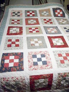 9 Patch Quilt by Amanda Valley, via Flickr