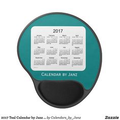 2017 Teal Calendar by Janz Gel Mousepad