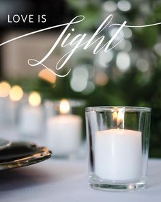 Love is light. Spread the love! Votive Candles, Love, Glass, Wedding, Instagram, Home Decor, Amor, Valentines Day Weddings, Drinkware
