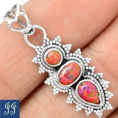 85603-AMAZING-FIRE-OPAL-925-STERLING-SILVER-1-3-8-PENDANT-CHAIN-JEWELRY