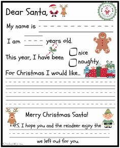 Botanical Paperworks Free Letter To Santa Printable  Hey Hey ItS