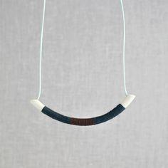Large wrapped curve necklace / Pigeon toe ceramics.
