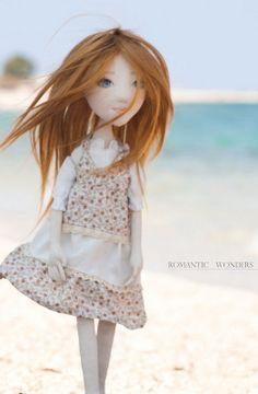 Handmade Ooak doll ''Mirto'' by Romantic Wonders Dolls Keka❤❤❤ Ooak Dolls, Art Dolls, Doll Making Tutorials, Doll Clothes, Kawaii, Romantic, Fabric, Pattern, Handmade