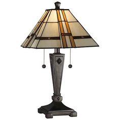 Dale Tiffany Atherton Mica Bronze Table Lamp