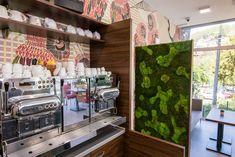 Café Slávia designed by Kristina Prokšová ... interior design