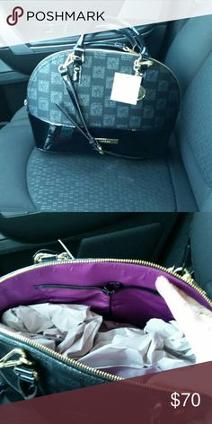 ONE DAY SALE!! NWT Anne Klein handbag Brand new, still had tags and stuffing paper. Medium size bag. Has the small handles as well as a long one. Black and gray in color with gold hardware. Anne Klein Bags Totes