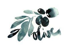 """HANDLETTERING """"Olive Oil"""" by Ekaterina Koroleva, via Behance"""